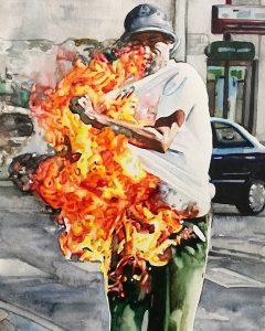 Man on fire X
